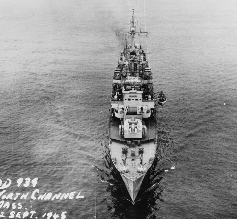 Head on bow. USS Z-39 (DD-939)