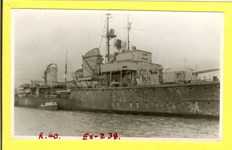 1949, British Destroyer HMS Nonsuch, EX German Z 38