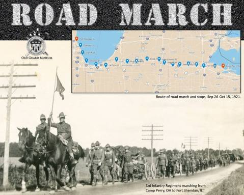 3rd-infantry-regiment-marching-from-camp-perry-ohion-to-fort-sheridan-ill-1921