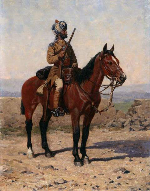 A Mounted Sowar in Drab Full Dress, Guides Cavalry, James Arthur Pownall, 1902, National Army Museum. The Corps of Guides was raised in 1846/1847 by Lieutenant (later Lieutenant-General Sir) Harry Lumsden (1821–1896). In 1886, as part of the later nineteenth-century reform of the Indian Army, the Guides were transferred from the control of the Governor of the Punjab to that of the Commander-in-Chief. The cavalry regiment was later numbered 10th in the 1922 reorganization of the Indian Army.