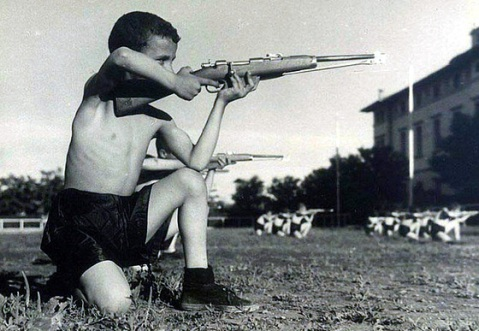 ballila-rifle-carcano-drilling-with-italian-youngsters