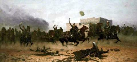 Bringing Up the Guns, James Arthur Pownall, 1898,Atkinson Art Gallery Collection