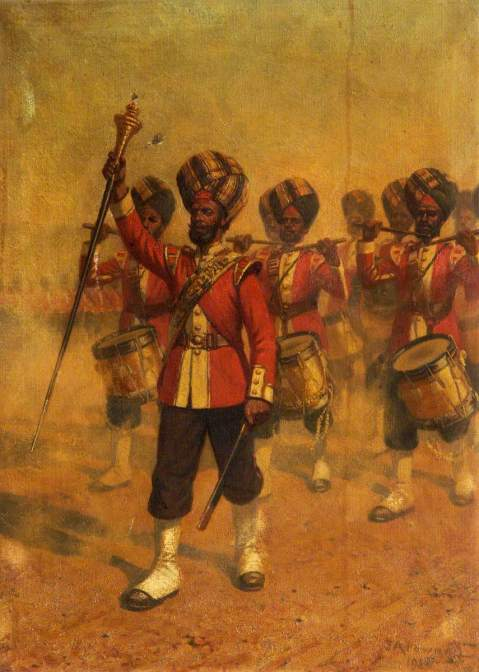 Indian Corps of Drums,1918, James Arthur Pownall, Cheshire Military Museum