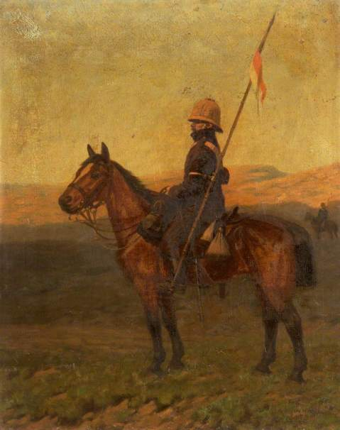 Mounted Lancer, James Arthur Pownall, 1918, Cheshire Military Museum