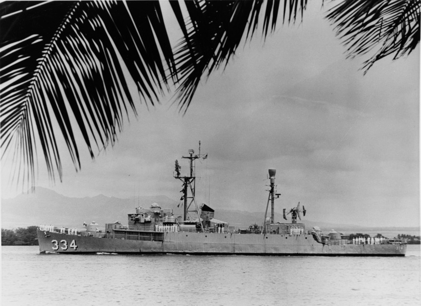 Official U.S. Navy Photograph, from the collections of the Naval History and Heritage Command. Catalog #: NH 55886