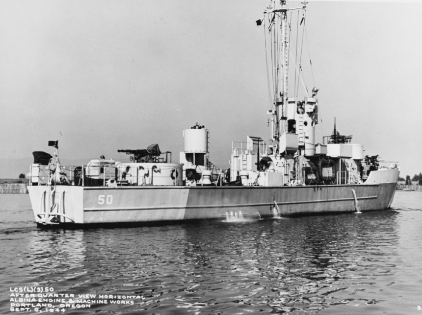 USS LCS(L)(3) 50. Description: Courtesy of James C. Fahey collection, U.S. Naval Institute Catalog #: NH 81533