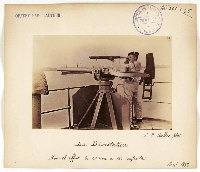 old-postcards-of-the-battleship-devstation-nordfelt-cannon-1892