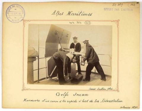 old-postcards-of-the-battleship-devstation-rapid-fire-cannon