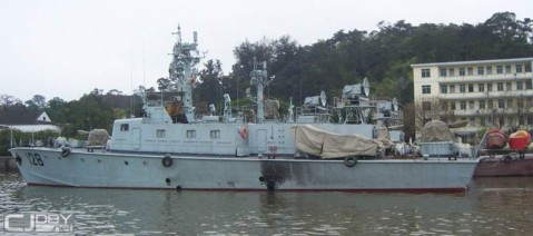 One of three Type 021 missile boats purchased by Yemen from China in 1995. Photo via Chinese internet