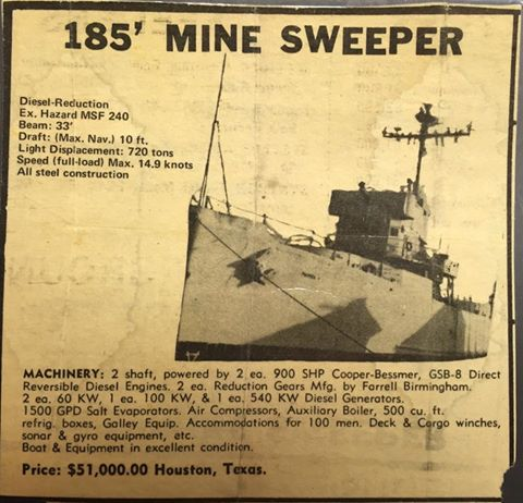 1971-newspaper-ad-for-the-disposal-of-uss-hazard-msf-240-an-admirable-class-minesweeper-of-the-wwii-us-navy