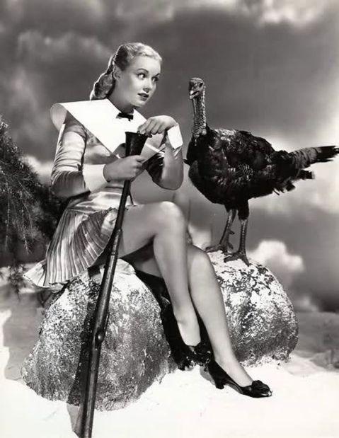 Angela Greene faces her quarry thanksgiving