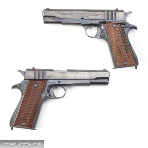 "British owned ""B-prefix"" Ballester Molina made in Argentina for the Brits in WWII. Via the National Firearms Museum"