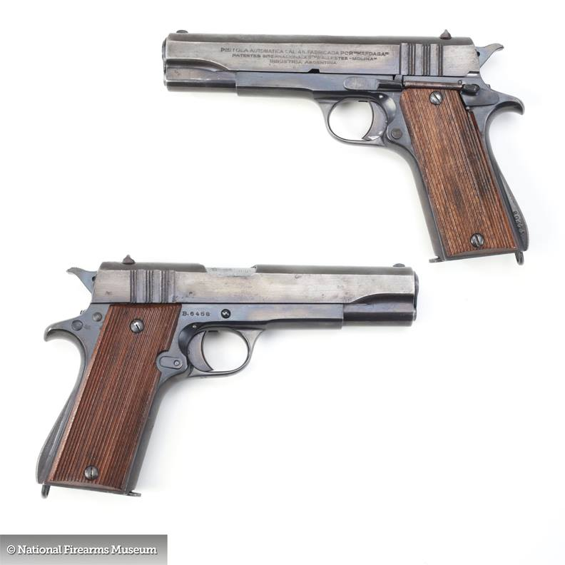 """British owned """"B-prefix"""" Ballester Molina made in Argentina for the Brits in WWII. Via the National Firearms Museum"""