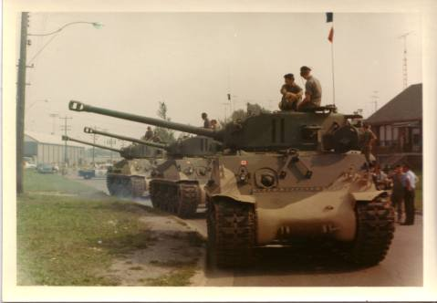 Canadian Easy Eight Shermans in reserve units 1970s
