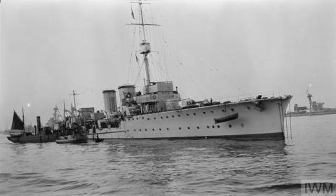 HMS Constance in Scapa Flow. IWM Q 74169