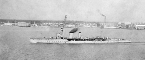HMS Constance off Pensacola 1922