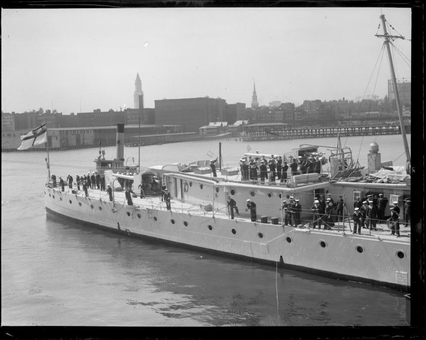 Men on deck in Boston