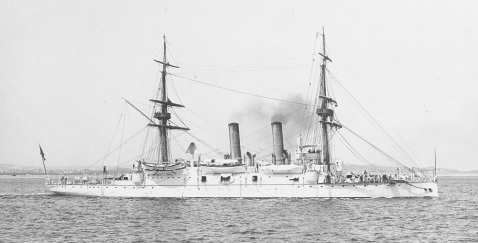 USS Boston underway, probably off Boston, Massachusetts, 1891. Photographed by H.C. Peabody, Boston. Collection of Warren Beltramini, donated by Beryl Beltramini, 2007. U.S. Naval History and Heritage Command Photograph.Catalog #: NH 105556