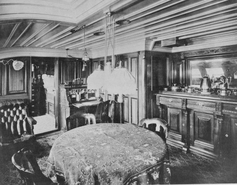 Captain's cabin, 1888. Catalog #: NH 56531