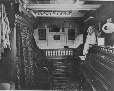 Officer's stateroom in 1888. Catalog #: NH 56533