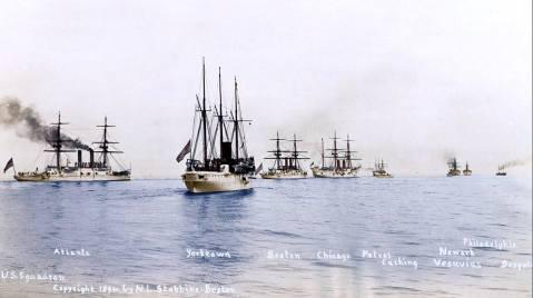 white-squadron-atlanta-boston-yorktown-chicago-petrel-cushing-newark-vesuvius