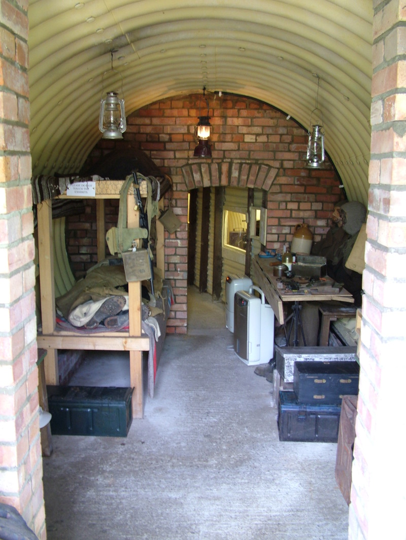 A replica of an operational base British auxiliary service unit