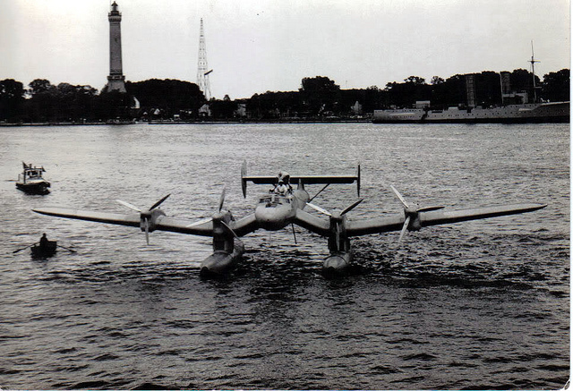 A giant Blohm & Voss Ha 139, a huge all-metal inverted gull wing floatplane with four 447kW Junkers Jumo 205G diesel engines. Deutsche LuftHansa archive via Diesel Punks http://www.dieselpunks.org/profiles/blogs/s-a-m-11-diesel-mail