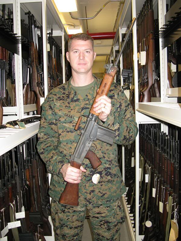 Captian Ben Grant with one of 70 H&R T48s via FAL Files, 2008