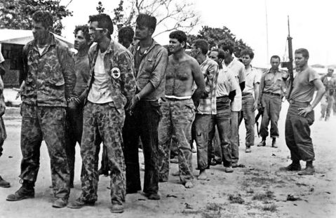 Cuban exiles captured during the failed American-backed 1961 Bay of Pigs invasion