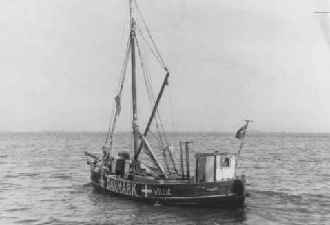 A boat used by Danish fishermen to transport Jews to safety in Sweden during the German occupation. Denmark, date uncertain. — YIVO Institute for Jewish Research, New York