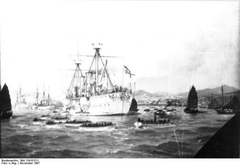 Schutzgebiet Kiautschou Besitznahme von Kiautschou am 14. Nov. 1897 durch Kaiserl. Marineeinheiten