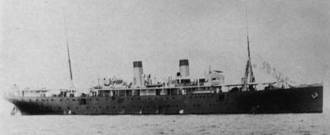 Hilfskreuzer S.M.S. CORORAN II im Jahre 1916 im Hafen von Apra, Guam (Fotograf unbekannt, Marineschule Mürwik)