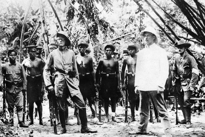 German forces being trained in New Guinea via Australian War Memorial