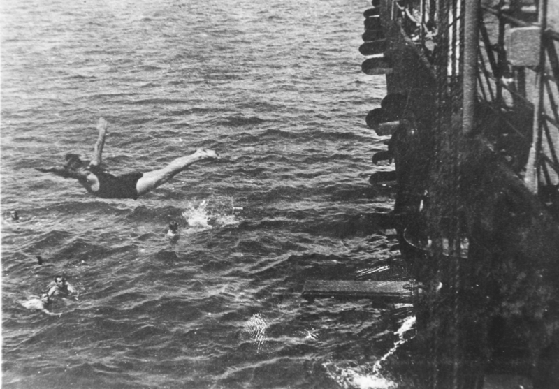 Swim call in Apra harbor