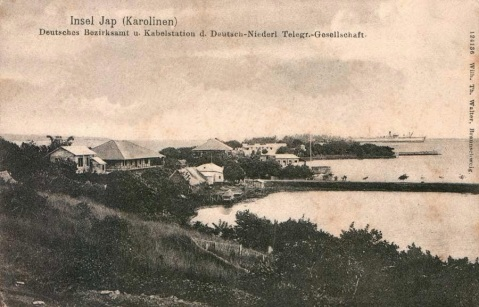 The German radio station at Yap Island. Cormoran called here while on the run and left with the crew of the scuttled SMS Planet