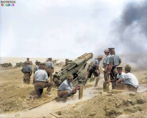 (Photo source - © IWM Q 13340) (Colourised by Royston Leonard from the UK)