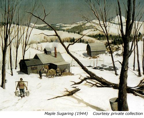 Maple Sugaring, Paul Sample