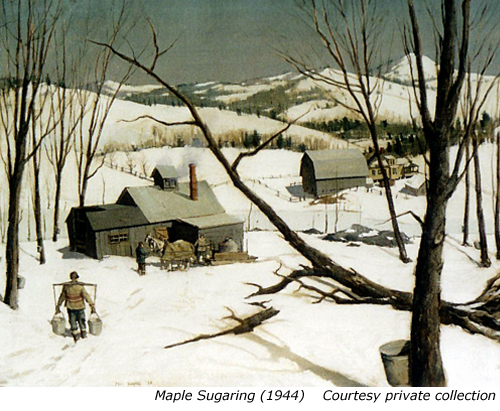 Maple Sugaring, Paul Sample