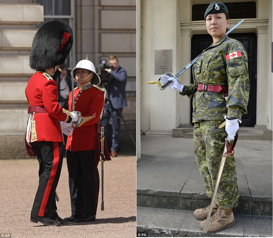 Canadian Captain Megan Couto, 24, has been given the prestigious role of Captain of the Queen's Guard, 2pplci