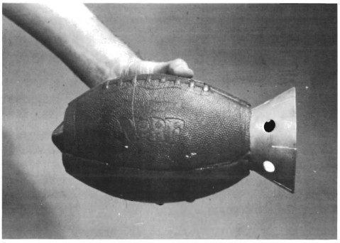 U.S. Army Prototype Anti-Armor Hand Grenade from 1973 - A Shaped Charge Packed in a Hollowed-Out NERF Football