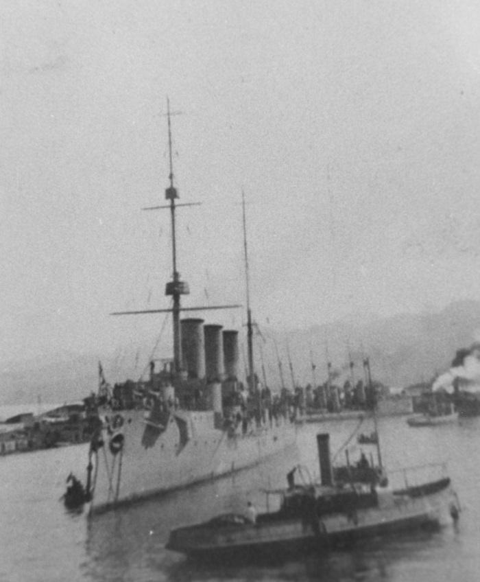 Photographed in Port at Novorossiysk on the Black Sea on 27 March 1916 (old style calendar, 13 days behind present western dating). Courtesy of Mr. Boris V. Drashpil of Margate, Fla., 1893 Catalog #: NH 94408