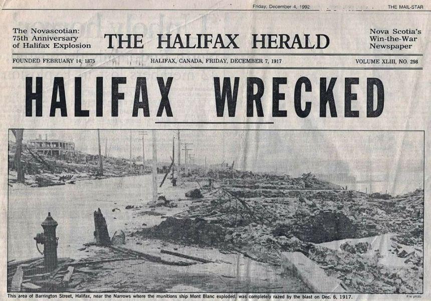 December 6, 1917, Halifax, Nova Scotia explosion