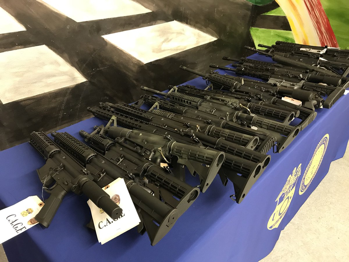 LAPD photos of ghost guns 80 percent lowers polymer glock