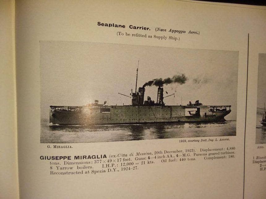 Giuseppe Miraglia 1946-47 Janes listing