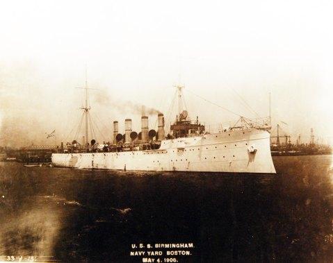 USS Birmingham, starboard view, May 4, 1908 NARA 19-N-33-9-13