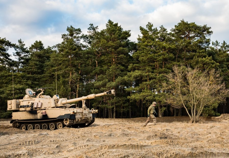 1st Battalion, 5th Field Artillery Regiment, 1st Armored Brigade Combat Team, 1st Infantry Division Paladin M109A7 155mm 2019