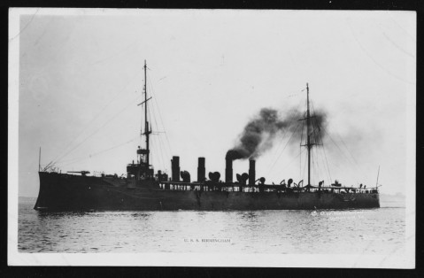 Birmingham, Photographed by O.W. Waterman, Hampton, Virginia, circa 1916. Courtesy of Admiral M.M. Taylor, USN(d), 1962. NH 77906