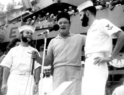 Bob Hope during the 1965 Christmas show aboard the USS Ticonderoga. GARY COOPER STARS AND STRIPES