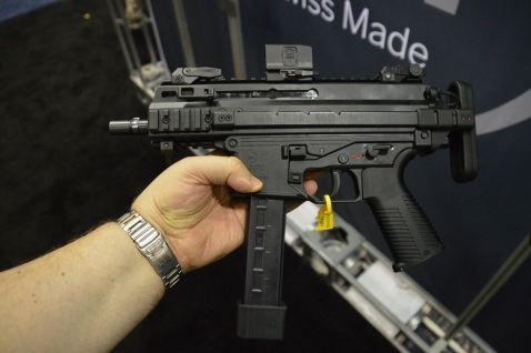 The B&T APC9K will almost fit in the palm of your hand– if you have really big hands. (Photos: Chris Eger/Guns.com)