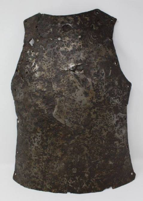 French backplate armor recovered from within the north demi-lune of Fort Ticonderoga during repairs in 1941